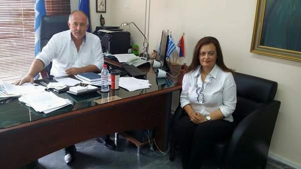 Θερμό κλίμα συνεργασίας μεταξύ του Δημάρχου Δήμου Ρήγα Φεραίου και της Αντιδημάρχου Παιδείας & Πολιτισμού Δήμου Βόλου