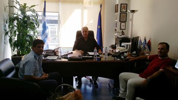 Επίσκεψη του νέου Αστυνομικού Διευθυντή Βελεστίνου στο Δήμαρχο Ρήγα Φεραίου