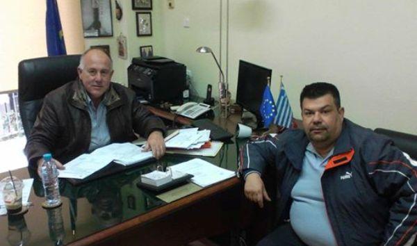 Συνάντηση του Προέδρου της Αεραθλητικής Ένωσης Μαγνησίας κ. Χρήστου Λεονταρίτη με το Δήμαρχο Ρήγα Φεραίου κ. Δημητρίο Νασίκα