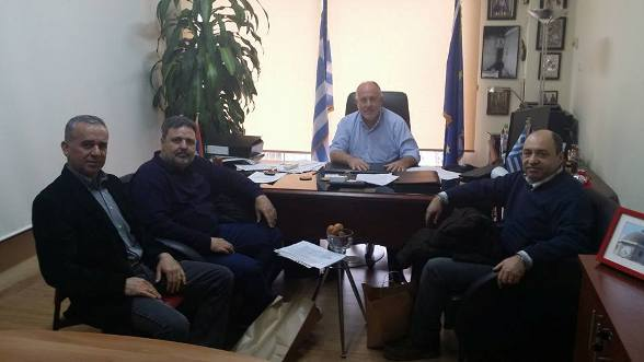 Επίσκεψη του νέου Διευθυντή Πρωτοβάθμιας Εκπαίδευσης στο Δήμαρχο Ρήγα Φεραίου