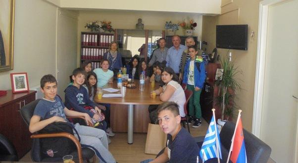 Επίσκεψη μαθητών του 30ου Δημοτικού Σχολείου Βόλου στο Δήμο Ρήγα Φεραίου για τη Χάρτα του Ρήγα