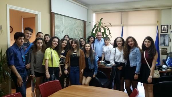 Επίσκεψη Ιταλών μαθητών στο Δήμο Ρήγα Φεραίου