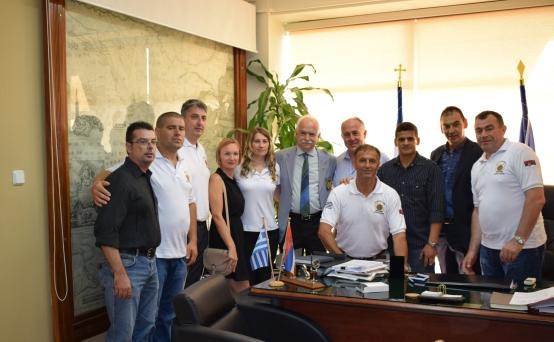 Επίσκεψη αποστολής της Αστυνομικής Διοίκησης της πόλης Vranje της Σερβίας στο Δήμο Ρήγα Φεραίου