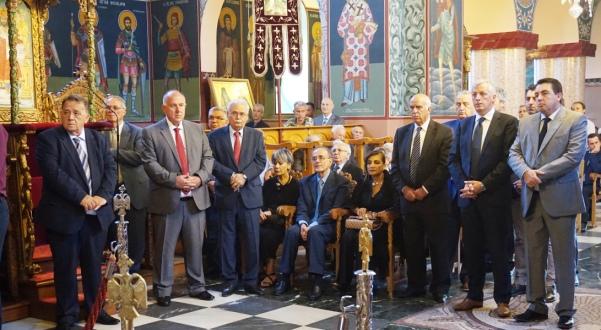 Ο Δήμαρχος Ρήγα Φεραίου στις εκδηλώσεις τιμής και μνήμης για τον Σιατιστινό Θεοχάρη Γ. Τουρούντζια, συμμάρτυρα του Ρήγα Βελεστινλή.