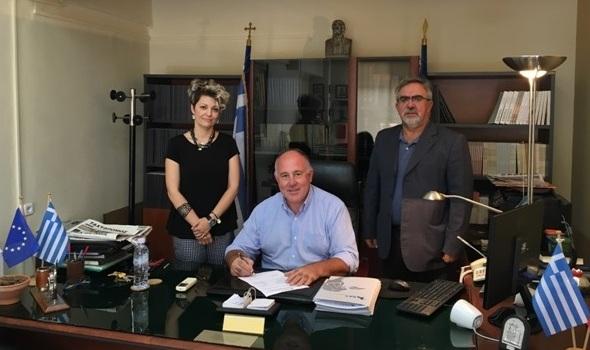 Υπεγράφησαν οι συμβάσεις σύνδεσης φυσικού αερίου για τα δημοτικά κτίρια στο Βελεστίνο του Δήμου Ρήγα Φεραίου