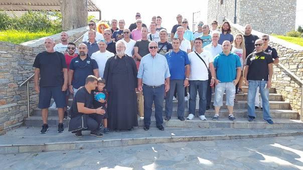 Επίσκεψη ποδοσφαιρικής ομάδας της Αστυνομικής Διεύθυνσης Λάρνακας Κύπρου στο Δήμο Ρήγα Φεραίου