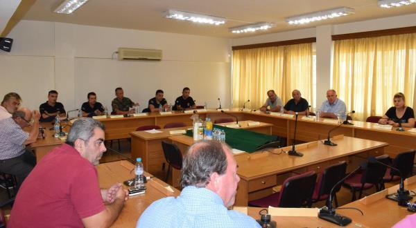 Έκτακτη Συνεδρίαση Συντονιστικού Οργάνου Πολιτικής Προστασίας Δήμου Ρήγα Φεραίου