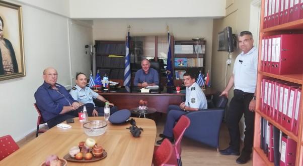 Τον Δήμαρχο Ρήγα Φεραίου επισκέφθηκε ο Διευθυντής Αστυνομίας Μαγνησίας